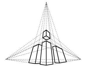 简笔画 建筑 手绘 塔 线稿