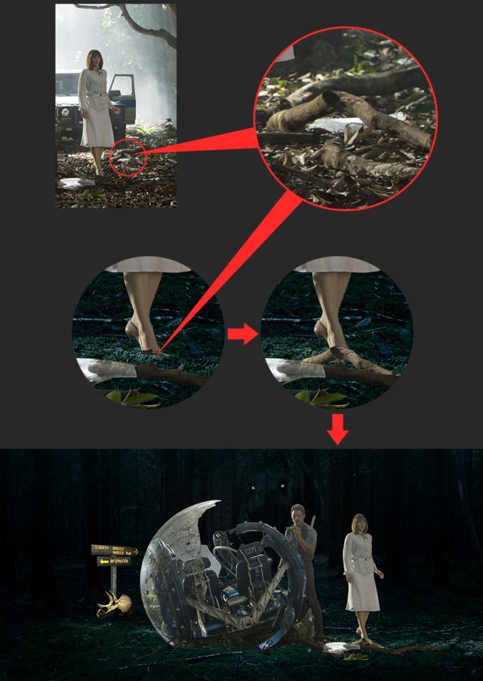 北京平面设计培训 侏罗纪世界海报合成教程