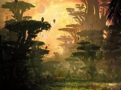 游戏场景丨 如何利用板绘厚涂手法绘画出一幅热室效应下的地球末日?